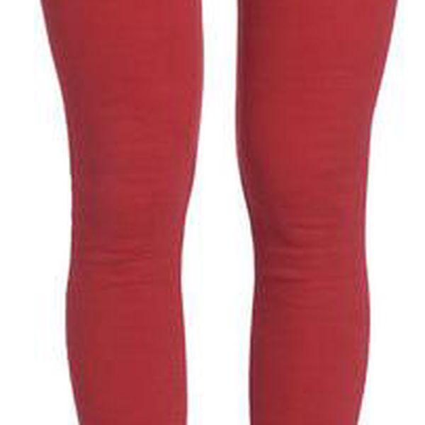 Dámské cihlově červené kalhoty Galvanni