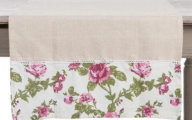 Běhoun na stůl Roses Pink, 50x150 cm
