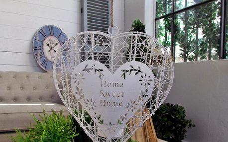 Závěsná dekorace na čajovou svíčku Home sweet home