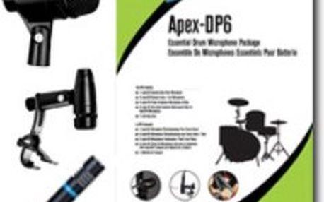 Sada 6 mikrofonů pro bicí Apex DP6