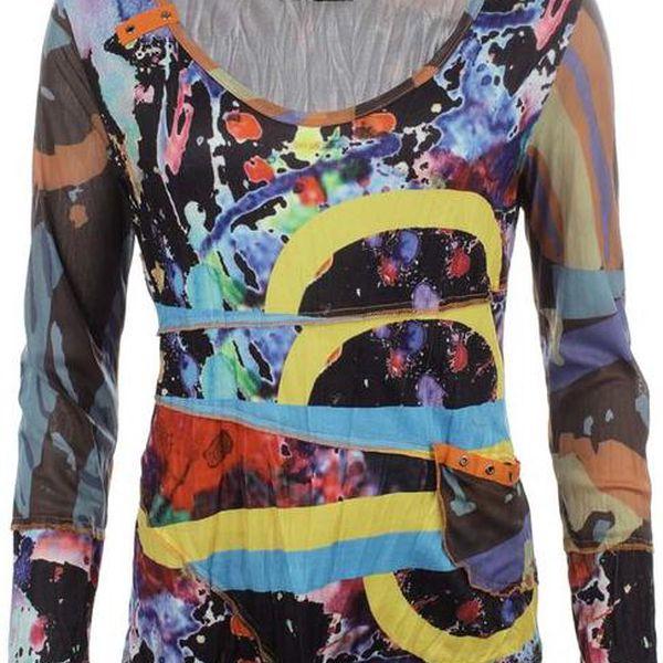 Dámské pestrobarevné tričko Dislay DY Design