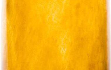 Skleněný tučňák 27-30 cm, medový