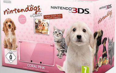 Výhodný bundle růžového Nintenda 3DS a hry Retriever