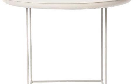 Kávový stolek Duke Medium 70x45 cm, vintage bílý - doprava zdarma!