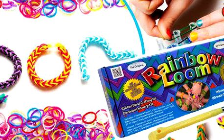Pravé Rainbow Loom z USA (600 gumiček i stav)