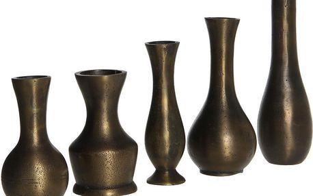 Sada 5 váz Ella Brass