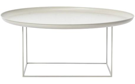 Kávový stolek Duke Large 90x43 cm, šedý - doprava zdarma!