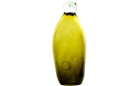 Skleněný tučňák 20-23 cm, olivový