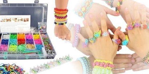 VELKÁ Sada na loom náramky- 5200ks - podpořte kreativitu vašich dětí a zažeňte nudu - Upleťte si duhové náramky.