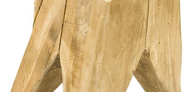 Otočná dřevěná stolička Swivel