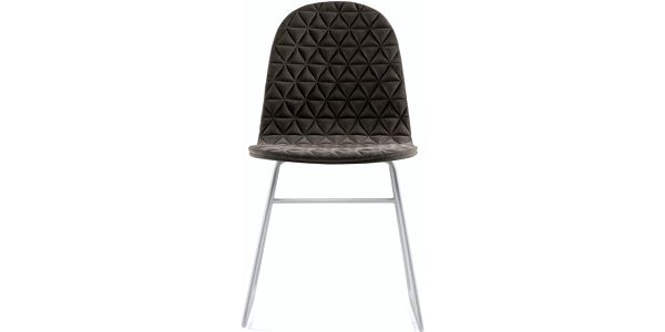 Židle Mannequin Triangle, tmavě šedá