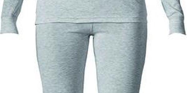 Dámský světle šedý set spodního prádla - tričko a kalhoty Bergson