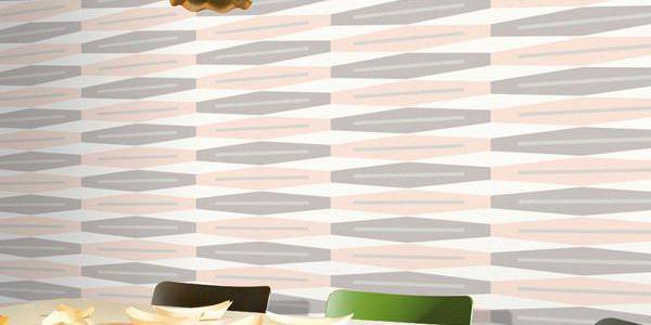 Vliesová tapeta Suites 0,53x10,05 m, lososová a šedá