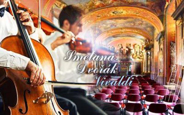 Smetana, Dvořák a Vivaldi! Tři velikáni na 65min. koncertu v Zrcadlové kapli Klementina! Desítky termínů na výběr!