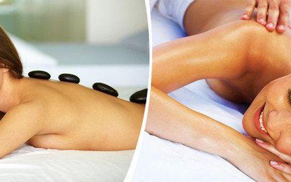 Jarní masáž - peeling, masáž manedlovým olejem a prohřátí lávovými kameny