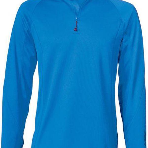Pánské modré lyžařské triko s dlouhým rukávem Maier