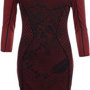 Dámské červené šaty s 3/4 rukávy Angels Never Die