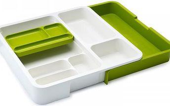 Přihrádky Drawer Store Organiser, bílé/zelené