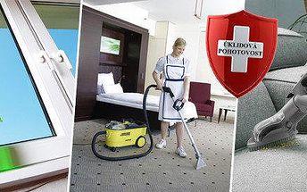 Profesionální úklid nebo mytí oken v délce 2 hodin či strojní čištění sedací soupravy nebo koberce