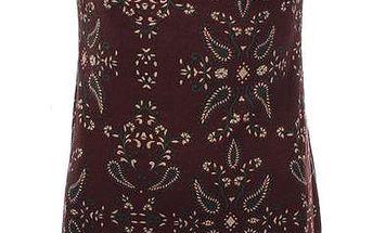 Dámské bordó šaty se vzorem Purple Jam