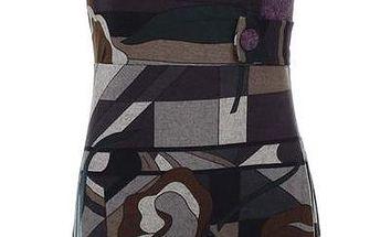 Dámské vzorované šaty s fialovými knoflíky Purple Jam
