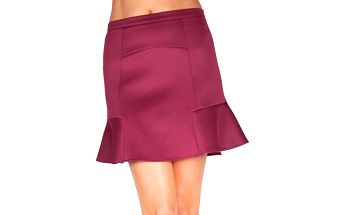 Dámská vínová sukně s volánkem Sixie