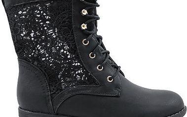 Úžasné kotníkové boty na šněrování