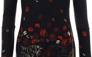 Dámské černé šaty se sovami Purple Jam