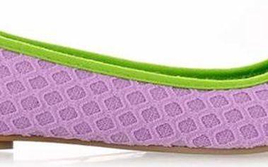 Dámské pletené světle fialové balerínky Qube