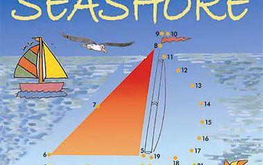 Dot-to-dot on the seashore zábavný způsob, jak se naučit číslovky a najít skryté obrázky