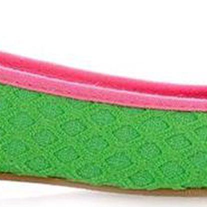 Dámské pletené zelené balerínky Qube
