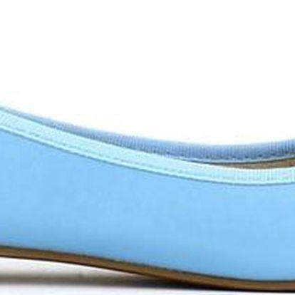 Dámské modré balerínky Shoes and the City