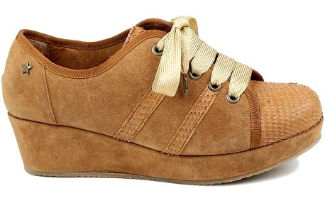 Dámské hnědé tenisky na platformě Cubanas Shoes