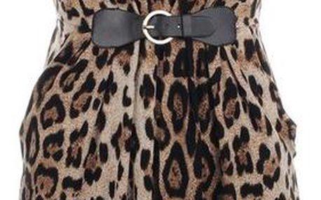 Dámské šaty s leopardím vzorem a sponou Iska