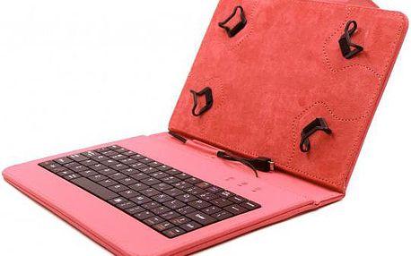 """Elegantní pouzdro C-TECH PROTECT s klávesnicí 7""""-7,85"""" NUTKC-01, červené"""