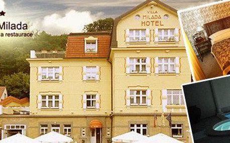 Odpočinek s wellness v Boutique Hotel Villa Milada **** kousek od Pražského hradu v Praze