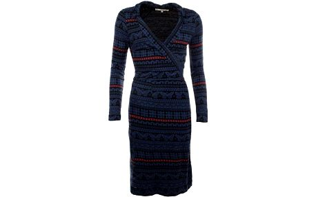 Dámské modré vzorované šaty po kolena Uttam Boutique