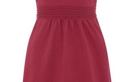 Dámské fuchsiové šaty s krátkými rukávy Uttam Boutique