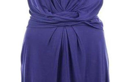 Dámské modré šaty s řasením Uttam Boutique