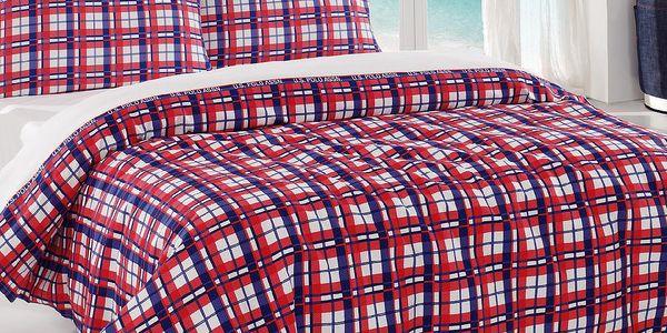 Sada přehozu přes postel a prostěradla U.S. Polo Assn. Visalia, 160x220 cm - doprava zdarma!