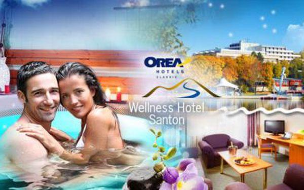 OREA Wellness Hotel Santon a TŘI DNY pro dva s bohatou POLOPENZÍ a WELLNESS! Saunový svět a BAZÉN!