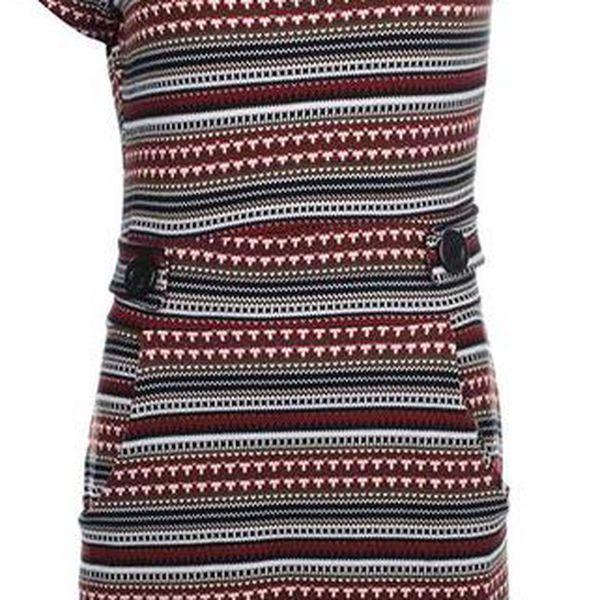 Dámské vzorované šaty s krátkým rukávem Iska