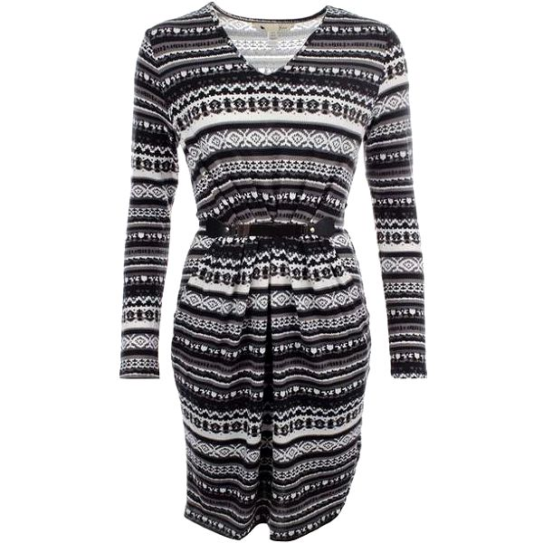 Dámské šedo-bílé pletené šaty Yumi