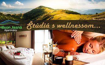 Wellness pobyt v Hilson studiích pro dva se vstupem do Aquaparku Tatralandia nebo polopenzí