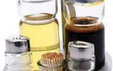 Souprava sůl, pepř, ocet, olej a párátka RENBERG