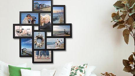 Velký nástěnný fotorám pro 10 fotografií