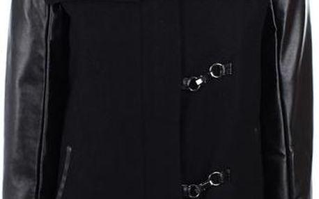 Dámský černý kabát s kapucí Company&Co