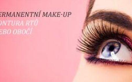 Permanentní make-up obočí nebo kontura rtů na klin...