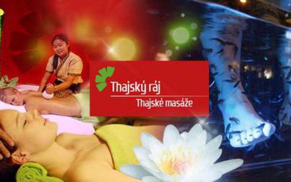 Pravé THAJSKÉ MASÁŽE v Thajském ráji! Masáže na 30 až 90 minut, doplněné rybkami Garra Rufa či relaxem!