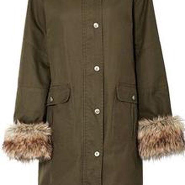 Dámská bunda s odnímatelnou kožešinou